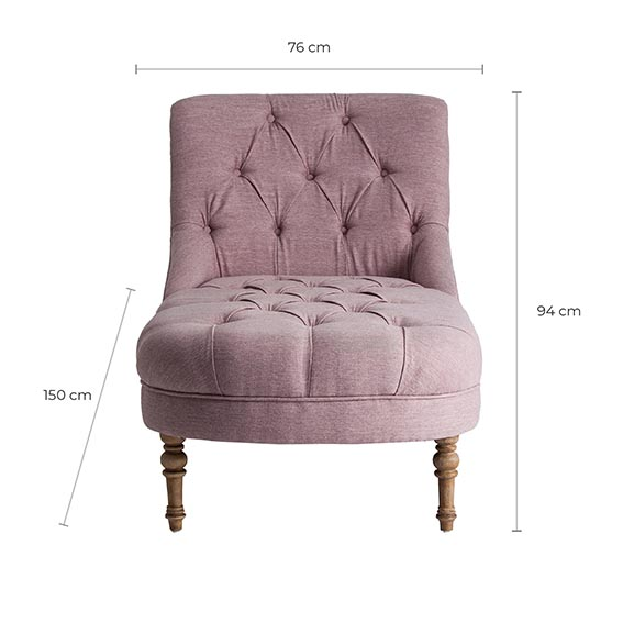 Chaise longue gahn