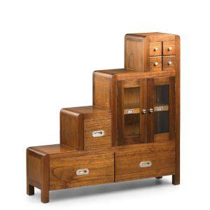Mueble escalera flash derecha 4+3 cajones 2 puertas