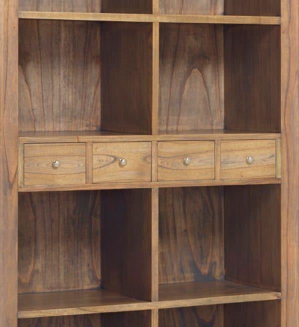 Librería merapi 4+2 cajones 8 huecos
