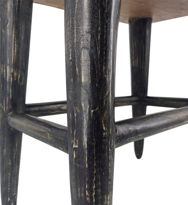 Taburete rectangular patas negras