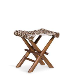 Taburete plegable leopardo