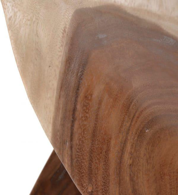 Taburete cuadrado tronco curvo