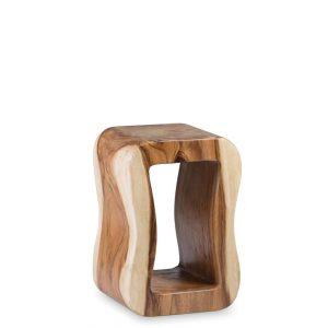 Taburete rectangular tronco