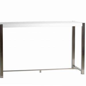 Mesa alta Jovana 160 cm blanco,acero