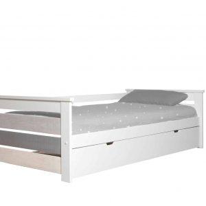 Cama nido 0.90 Romantica  90×190 blanco  y multicolor con somier