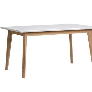 Mesa ext.rectan Java roble  y  blanco