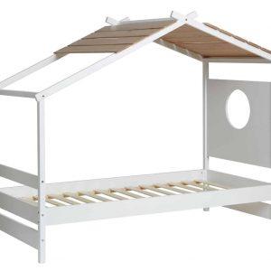 Cama 0.90 cabaña Nayah 90×190 blanco y roble