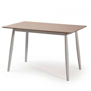 Set mesa 4 sillas Orbe blanco patas blancas