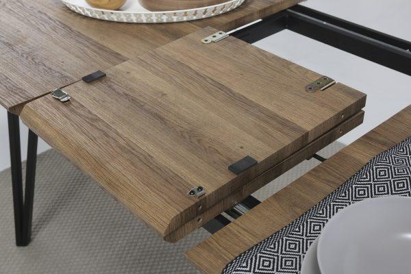 Mesa rectangular extensible Candi 140,200 cm roble