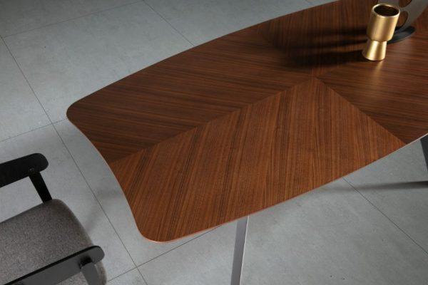 Mesa rectangular  Rita 200×100 nogal,negro
