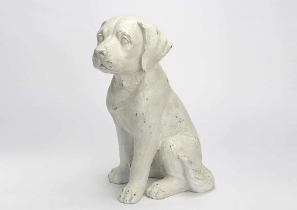 Perro inouk resina blanco