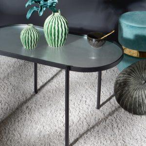 Mesa baja ovalada texture