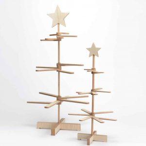 Árbol madera deco estrella