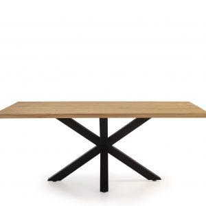 Mesa rectangular  Maeba 200 cm roble,negro