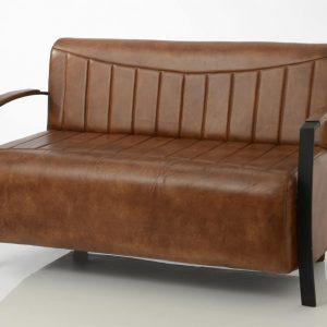 Sofa 2 plazas piel