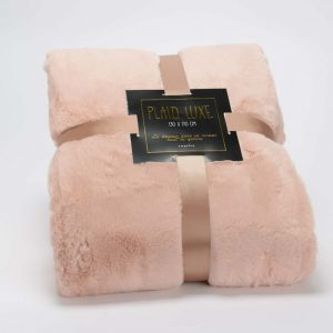 Manta luxe rosa viejo