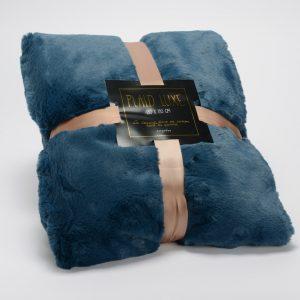 Manta luxe azul noche