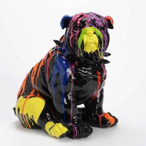 Bulldog collar sentada