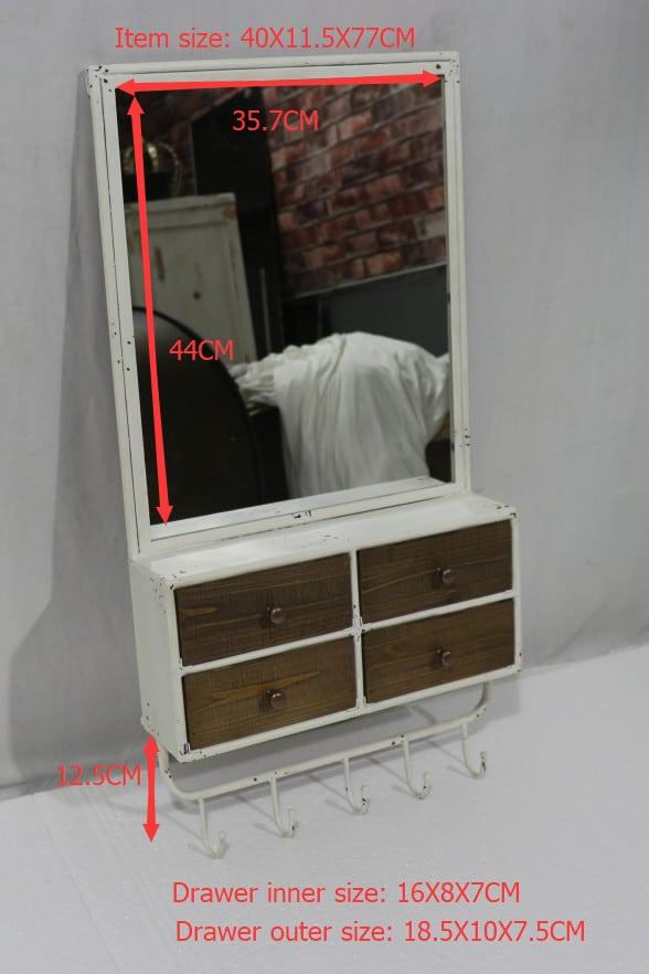 Perchero espejo rectangular