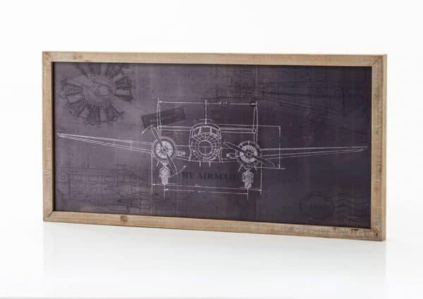 Deco pared avion vintage