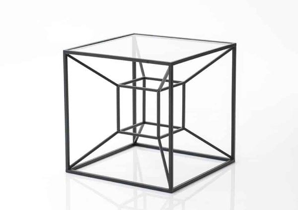 Mesa auxiliar cubo negro