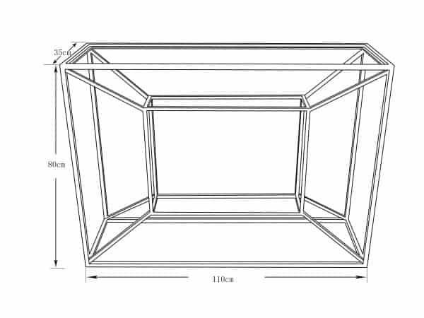 Consola cubica negro