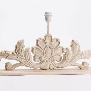 Base lampara mesa lila