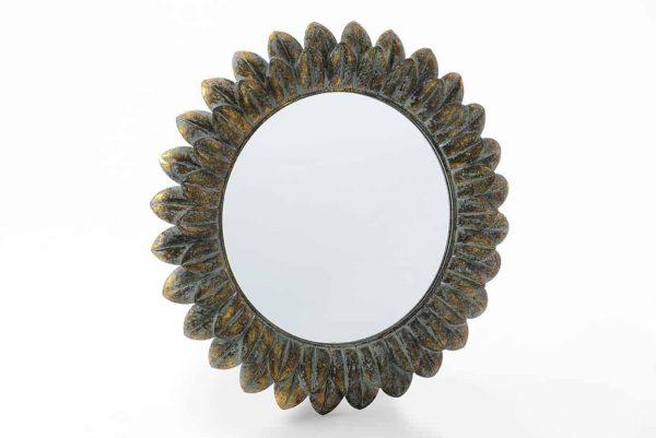 Espejo metal plumas