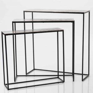 Consola aluminio negro