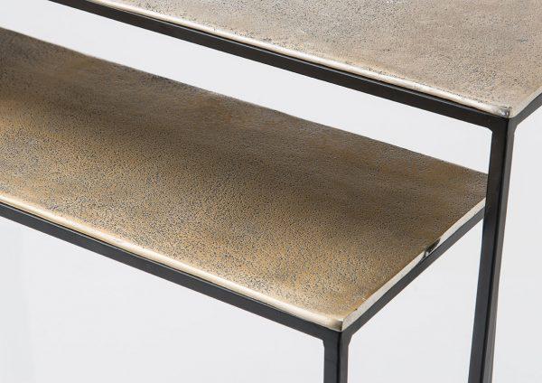 Mesita alta aluminio  oro