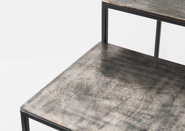 Mesita alta aluminio  negro