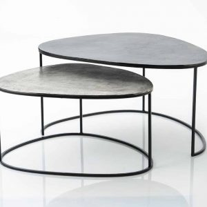 Mesa baja aluminio  galet