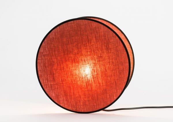 Lampara mesa luna  rojo