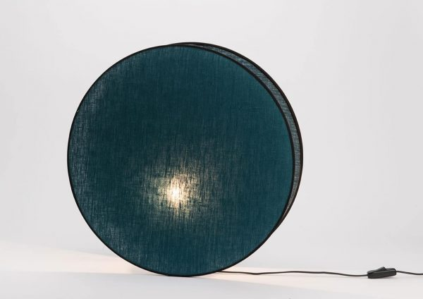 Lampara mesa luna  azul osc