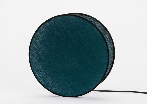 Lampara mesa luna  azul