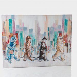 Lienzo  4 gatos urbain