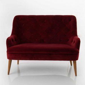 Sofa 2 plazas bordeaux  eddy