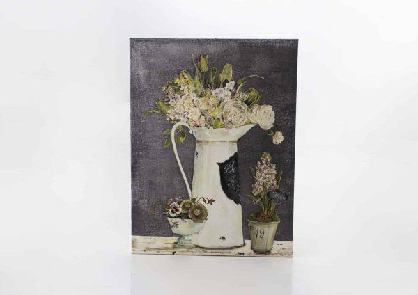 Lienzo  3 pots fleuris