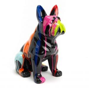 Bulldog assis trash noir s