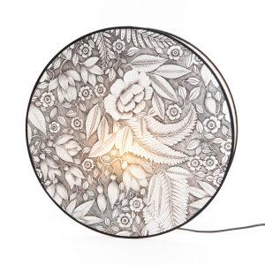 Lampara  luna motif alba