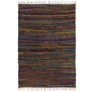 Alfombra multicolor yute textil y hogar