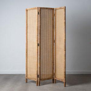 Biombo natural bambú decoración