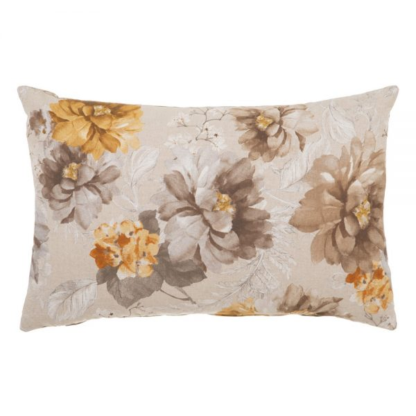 Cojín flores algodón-poliéster