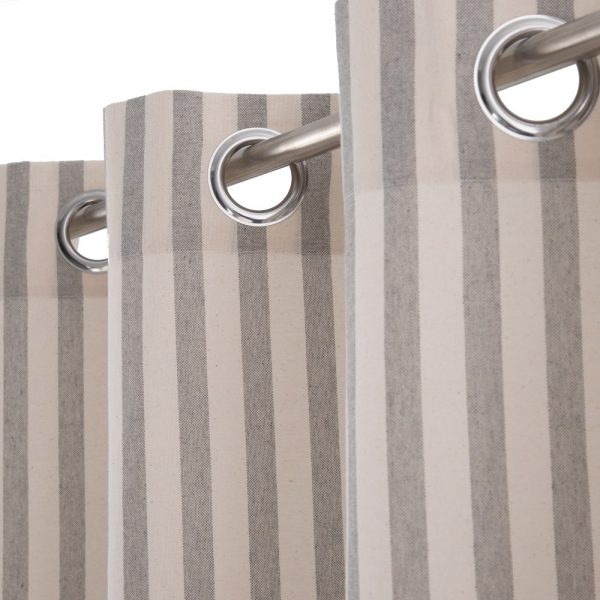 Cortina rayas algodón-poliéster