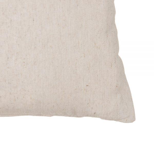 Cojín beige algodón-poliéster