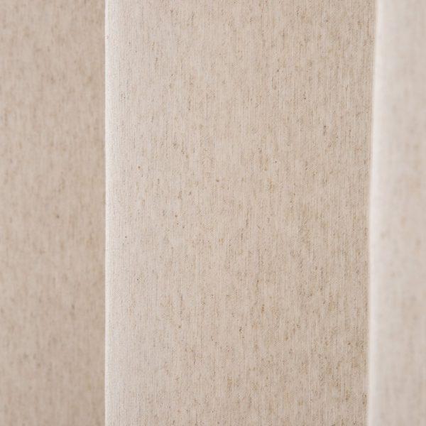 Cortina beige algodón-poliéster