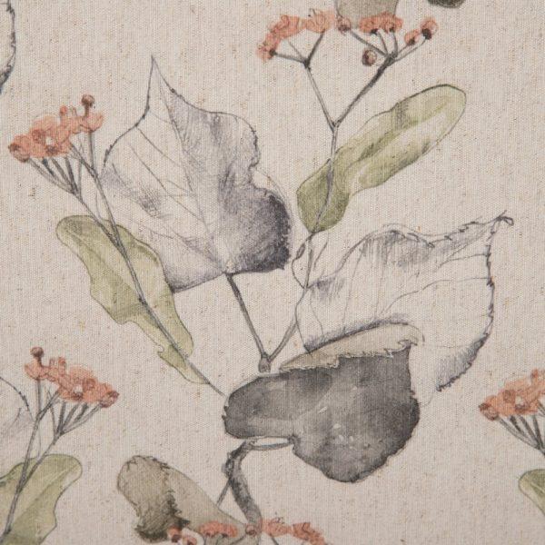 Cojín hojas algodón-poliéster