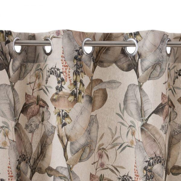 Cortina hojas algodón-poliéster