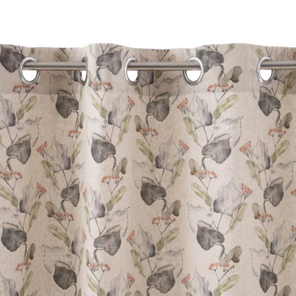Cortina botánico algodón-poliéster