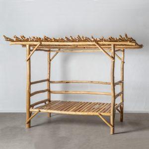 Cama natural madera teka